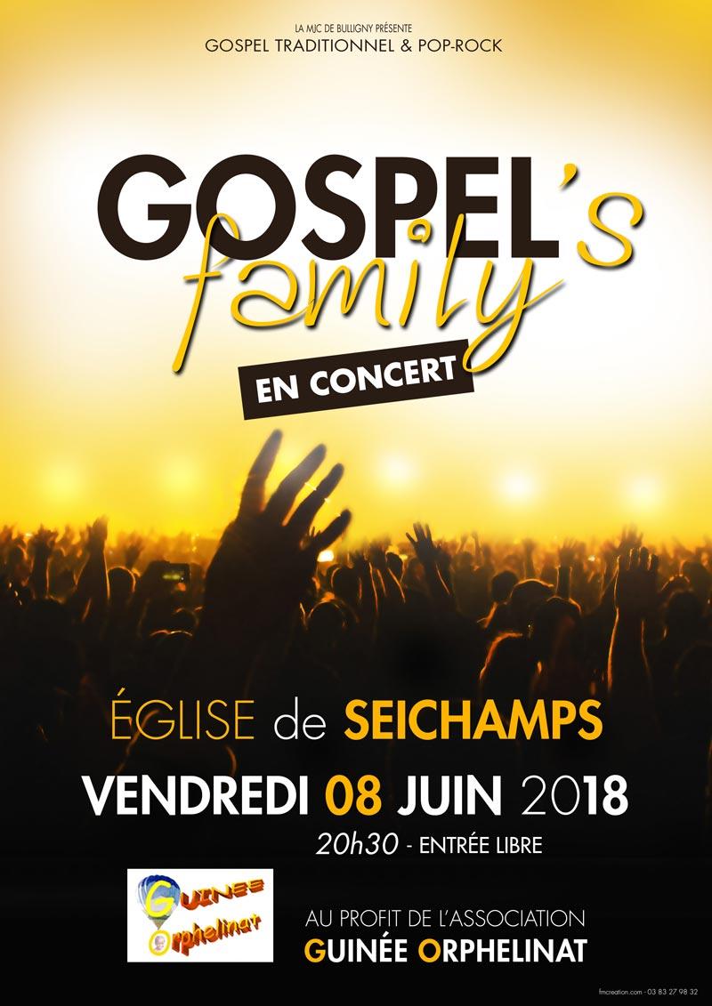 Gospel's Family à Seichamps pour l'Association Guinée Orphelinat