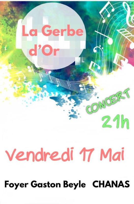 Affiche du Concert du vendredi 17 mai 2019 à 21h au Foyer Gaston Beyle à Chanas