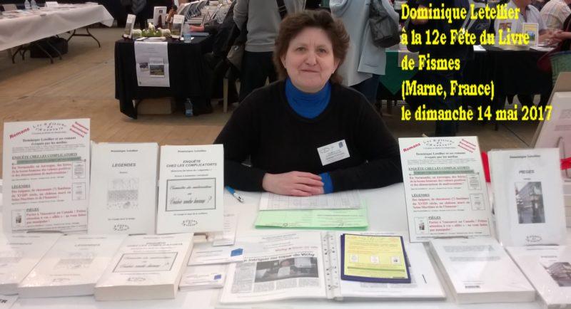 Dominique Letellier à la 12e Fête du Livre de Fismes le dimanche 14 mai 2017